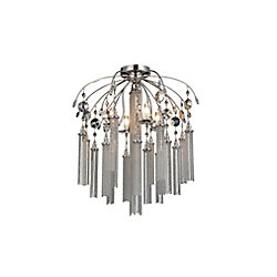CWI Lighting Chloe 24 inch 7 Light Flush Mount with Chrome Finish