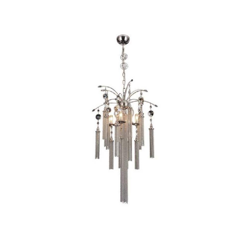 Chloe 18 inch 5 Light Chandelier with Chrome Finish