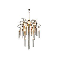 CWI Lighting Chloe 28 inch 7 Light Chandelier with French Gold Finish