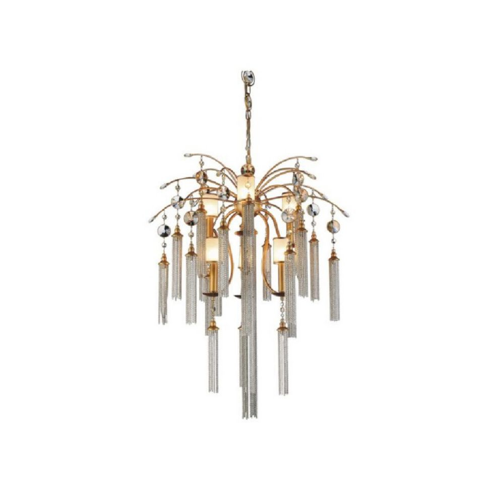 Chloe 28 inch 7 Light Chandelier with French Gold Finish