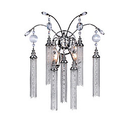 Chloe 8 inch 2 Light Wall Sconce with Chrome Finish