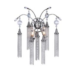 CWI Lighting Chloe 8 inch 2 Light Wall Sconce with Chrome Finish