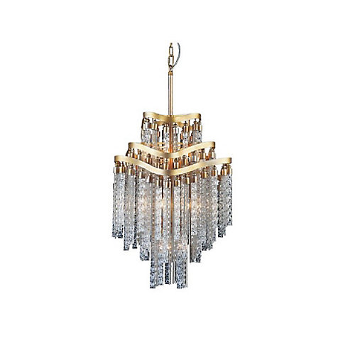Storm 19 inch 10 Light Chandelier with Gold Finish