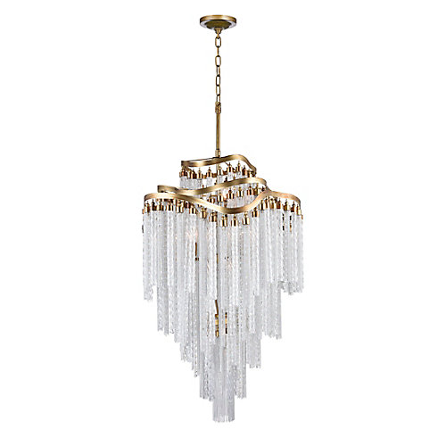 Storm 26 inch 14 Light Chandelier with Gold Finish