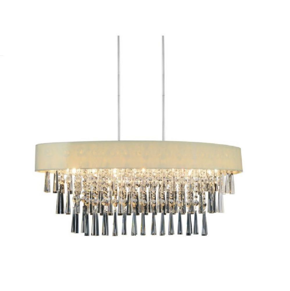 Franca 38-inch 8 Light Chandelier with Chrome Finish