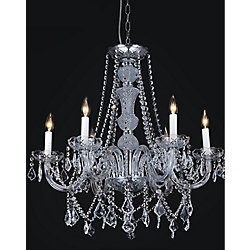 Princeton 24 inch 6 Light Chandelier with Chrome Finish