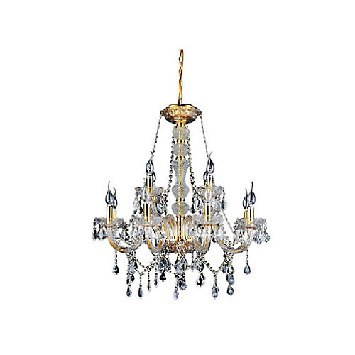 Princeton 30 inch 12 Light Chandelier with Gold Finish