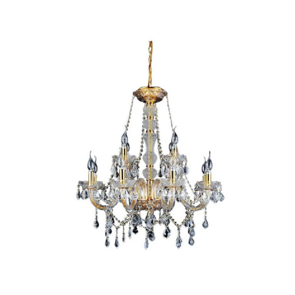 CWI Lighting Princeton 30 inch 12 Light Chandelier with Gold Finish