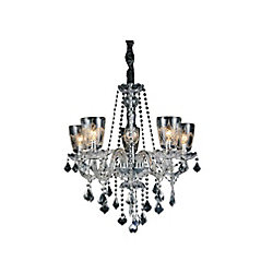 CWI Lighting Ella 25 inch 5 Light Chandelier with Chrome Finish