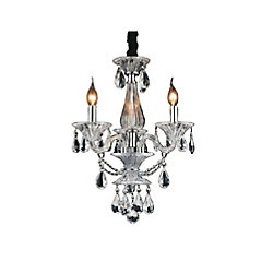 Lexis 18 inch 3 Light Chandelier with Chrome Finish