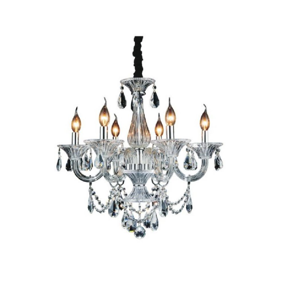 Lexis 24 inch 6 Light Chandelier with Chrome Finish