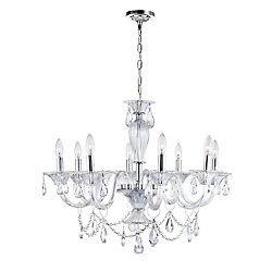 CWI Lighting Lexis 28 inch 8 Light Chandelier with Chrome Finish