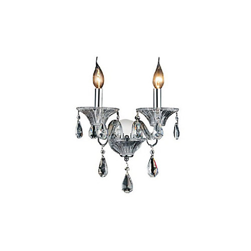 Lexis 11 inch 2 Light Wall Sconce with Chrome Finish