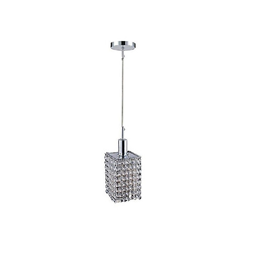 Glitz 4.5 inch 1 Light Mini Pendant with Chrome Finish