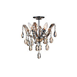 CWI Lighting Payton 14 inch Four Light Flush Mount with Chrome Finish