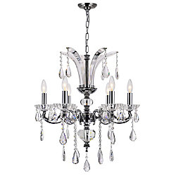 Glorious 24 inch 6 Light Chandelier with Chrome Finish