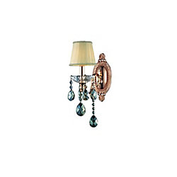 CWI Lighting Flawless 11 inch 1 Light Wall Sconce with Rose Gold Finish