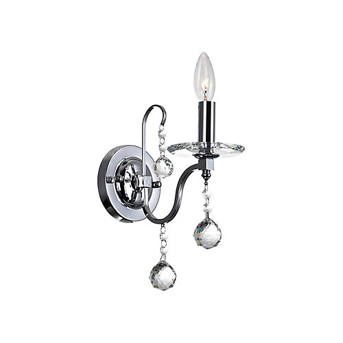 Valentina 9 inch 1 Light Wall Sconce with Chrome Finish