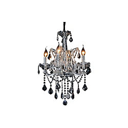 Maria Theresa 18 inch 4 Light Chandelier with Chrome Finish