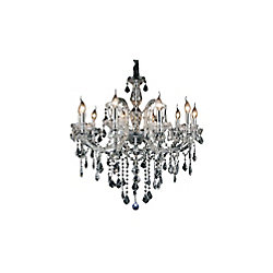 Riley 32 inch 10 Light Chandelier with Chrome Finish