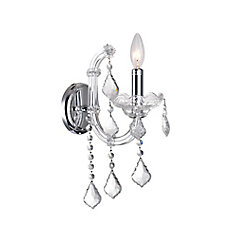 Riley 10 inch 1 Light Wall Sconce with Chrome Finish