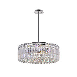 Colosseum 24 inch 10 Light Chandelier with Chrome Finish