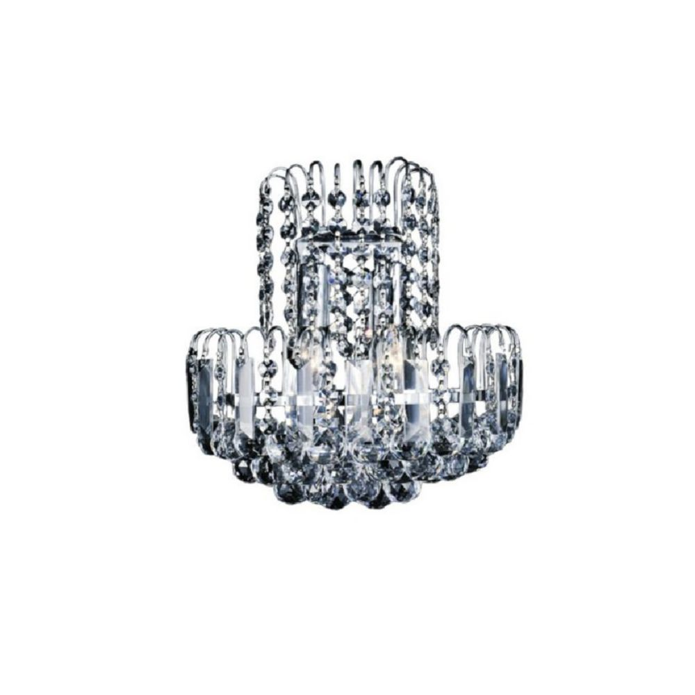 CWI Lighting Prism 7-inch 2 Light Wall Sconce with Chrome Finish