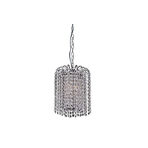 Prism 8 inch 3 Light Mini Pendant with Chrome Finish