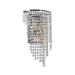 Prism 3 inch 3 Light Wall Sconce with Chrome Finish
