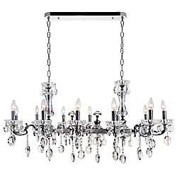 Flawless 46 inch 12 Light Chandelier with Chrome Finish