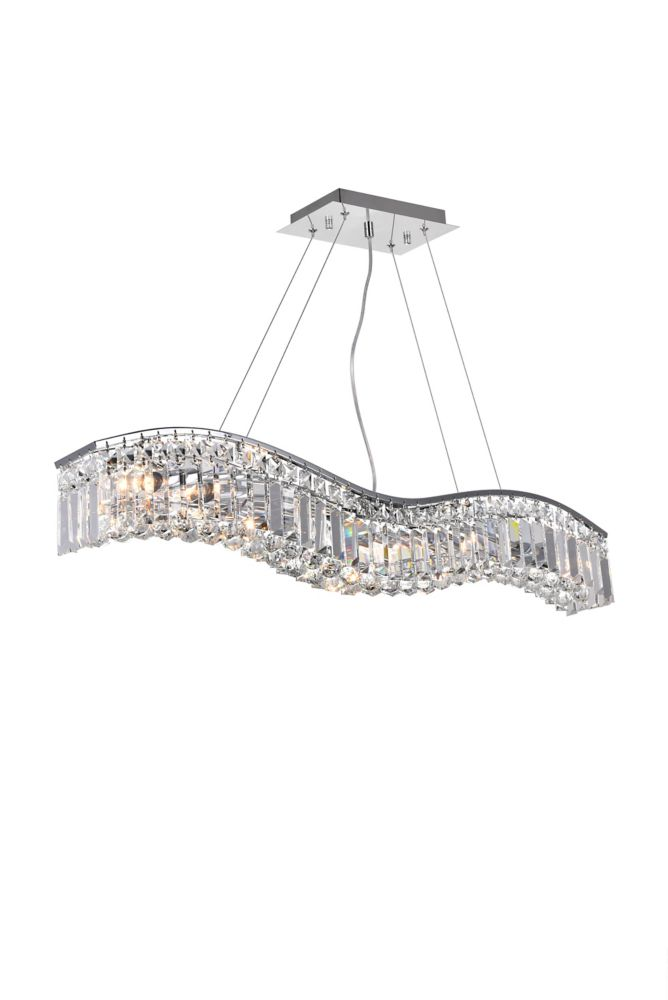 CWI Lighting Glamorous 36-inch 7 Light Chandelier with Chrome Finish