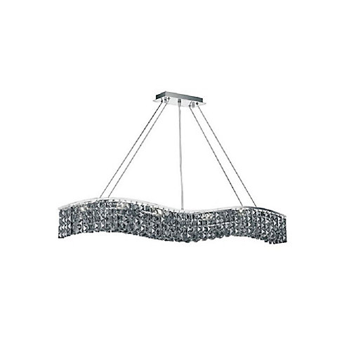Glamorous 44 inch 7 Light Chandelier with Chrome Finish