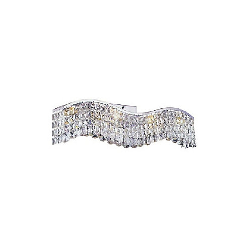 Glamorous 5 inch Three Light Wall Sconce with Chrome Finish