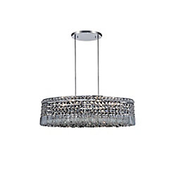 Colosseum 18 inch 8 Light Chandelier with Chrome Finish