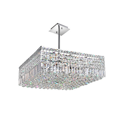 Colosseum 22 inch 10 Light Chandelier with Chrome Finish