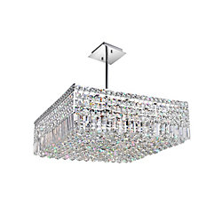 CWI Lighting Colosseum 22 inch 10 Light Chandelier with Chrome Finish
