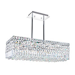 CWI Lighting Colosseum 26-inch 8 Light Chandelier with Chrome Finish