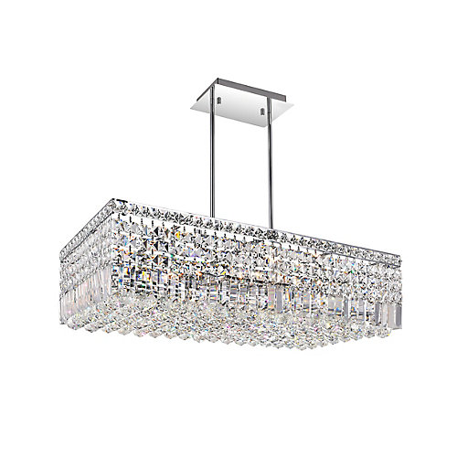 Colosseum 30-inch 10 Light Chandelier with Chrome Finish