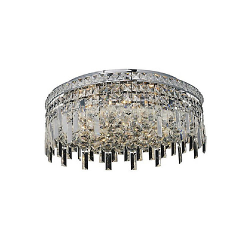 Colosseum 20-inch 8 Light Flush Mount with Chrome Finish