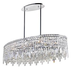 CWI Lighting Colosseum 36 inch 10 Light Chandelier with Chrome Finish