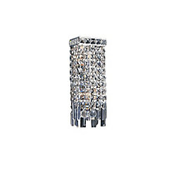 Colosseum 5-inch 2 Light Wall Sconce with Chrome Finish
