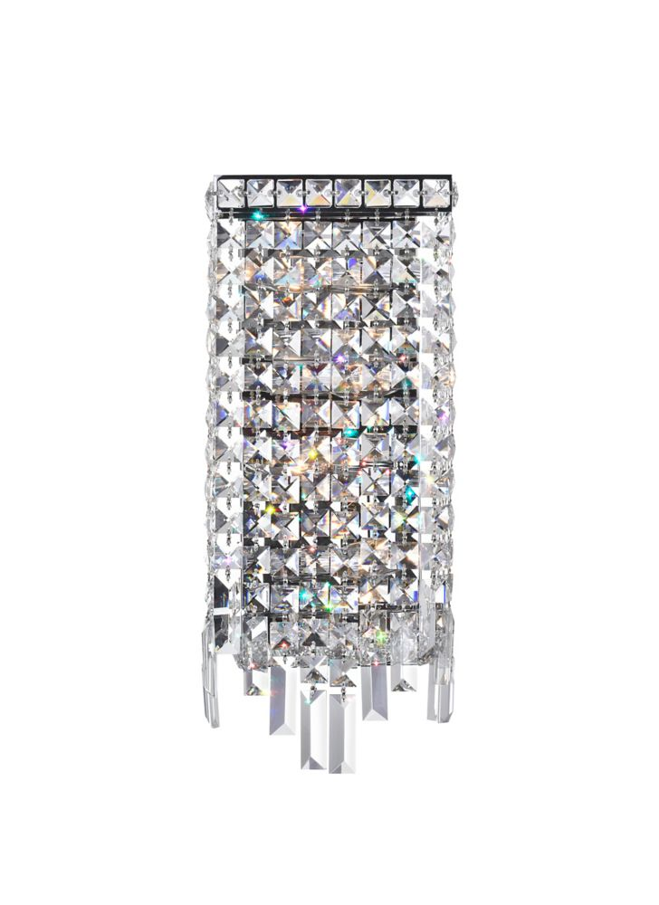 CWI Lighting Colosseum 5-inch 4 Light Wall Sconce with Chrome Finish