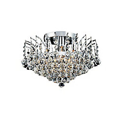 Posh 16 inch 4 Light Flush Mount with Chrome Finish