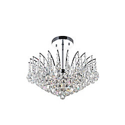 Posh 20 inch 6 Light Flush Mount with Chrome Finish
