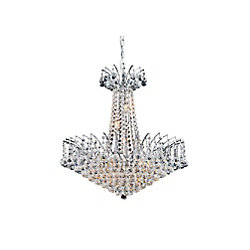 Posh 24 inch 11 Light Chandelier with Chrome Finish