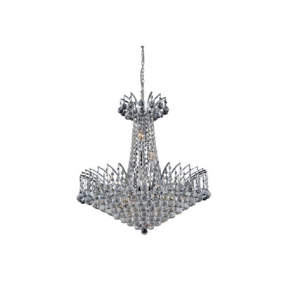 Posh 29 inch 22 Light Chandelier with Chrome Finish