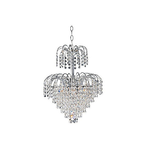Palm Tree 16 inch 8 Light Chandelier with Chrome Finish