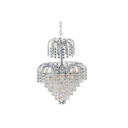 CWI Lighting Palm Tree 16 inch 8 Light Chandelier with Chrome Finish