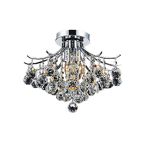 Princess 16 inch 4 Light Flush Mount with Chrome Finish