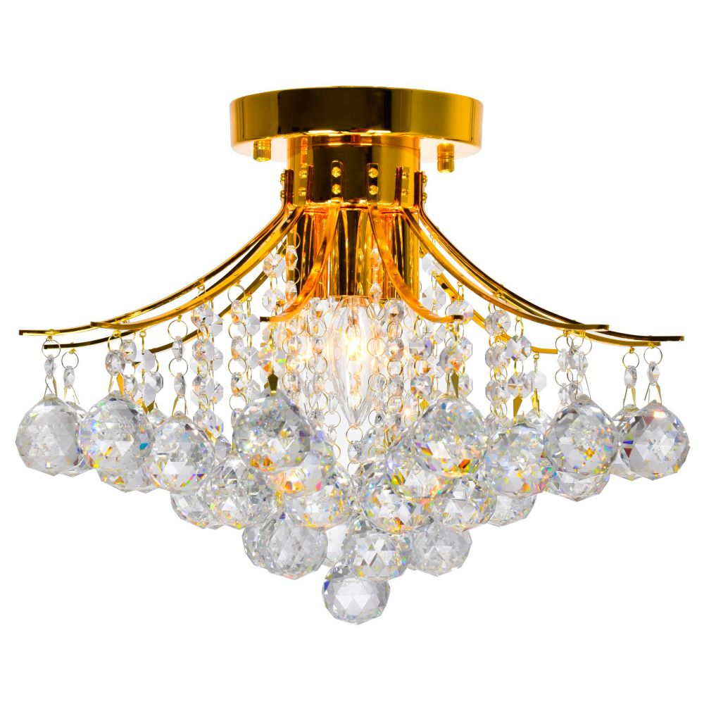 Princess 16 inch 4 Light Flush Mount with Gold Finish
